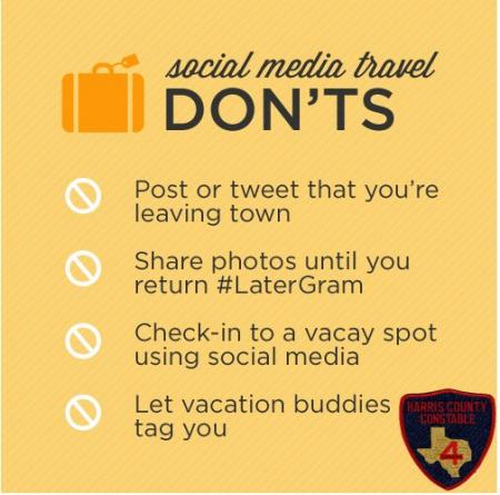 Social Media Travel Don'ts by Contable Mark Herman's Office